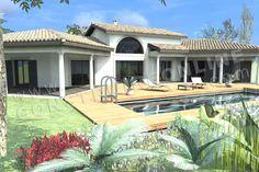 <div><b>Maison moderne de plain pied de type 4</b></div><div>3 chambres - terrasseS - garage</div><div>Surface Habitable: 152m² / Surface annexe: 101m²</div>