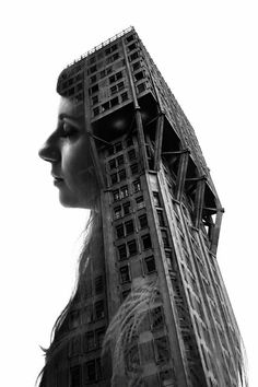 Francesco Paleari is a student and photographer from Milan, Italy. He created a very interesting black and white double exposure series about Milan city with people and famous towns of this city. Double Exposition, Architecture People, Architecture Art, Historic Architecture, Multiple Exposure, Double Exposure, Portraits, Modern City, Profile Photo