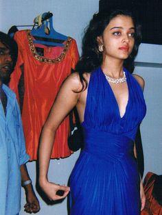 Aishwarya Rai Bachchan during dress trial, preparing for Ms. World beauty pageant 1994