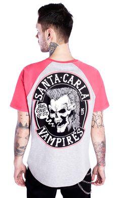 Vampires Raglan T-shirt #disturbiaclothing disturbia alien goth occult grunge alternative lost boys santa carla