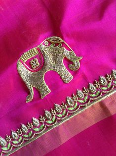 Koi naa rishta ayea hun tainu v tan ghrdya vangu koi na koi asr hona hi aa Simple Blouse Designs, Silk Saree Blouse Designs, Bridal Blouse Designs, Blouse Neck Designs, Sleeve Designs, Zardozi Embroidery, Hand Work Embroidery, Hand Embroidery Designs, Maggam Work Designs