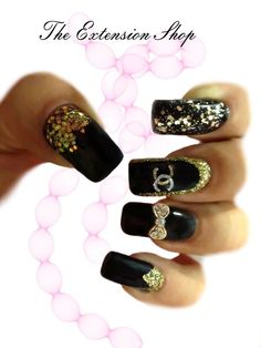 Chanel nail art by The extension shop | Super Cute ^_^