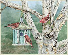 Lang February 2015 Wallpapers | Birds In The Garden