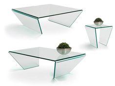 Curvo: glazen salontafels