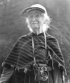 "Imogen, photographed by Jim Alinder. ""Which of my photographs is my favorite? The one I'm going to take tomorrow."" – Imogen Cunningham."
