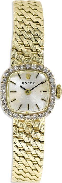 Rolex, Lady's Gold Integral Bracelet Wristwatch, Circa 1965.