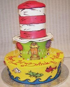 seuss lorax cake