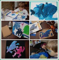 eric carle puzzle painting. I love Eric Carle, So many different things you can do with this activity!