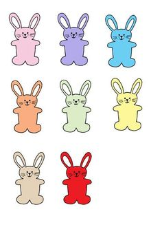 Color matching Bunnie file folder game 1/3