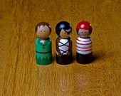 Peter Pan Wooden Peg Doll Set. $32.50, via Etsy.