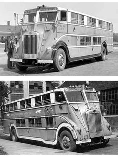 The 1930 NiteCoach Greyhound bus built by Pickwick, big? Oh yeah. But special? Yes! It has Woodlite headlights!