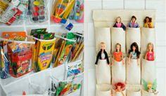Idea para organizar los juguetes de habitación de niño y niña