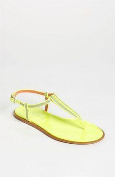 Neon sandals!