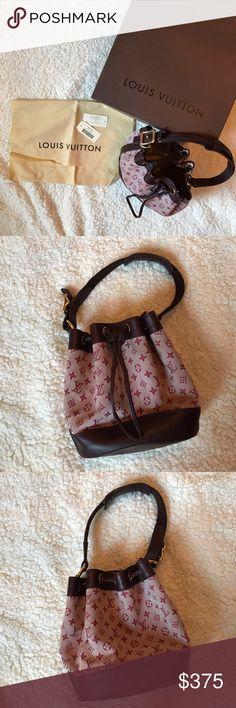1085a8819791 Louis Vuitton Cherry Monogram Mini Lin Noelie This adorable and stylish  vintage Authentic Louis Vuitton bag