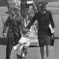 Joe Kennedy, John Kennedy Jr., and Jackie