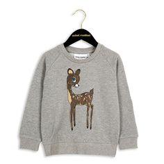 \Mini_Rodini_AW2016_1672020194 mini rodini roe deer sp sweatshirt trui grijs hert BonBonBleu
