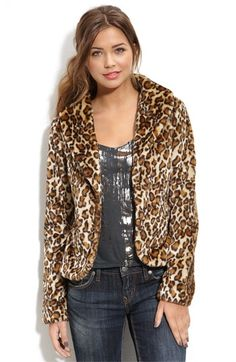 Tulle Leopard Faux Fur Coat (Juniors) | Nordstrom - StyleSays
