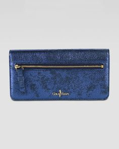 Slim Fold-Over Wallet, Blue by Cole Haan