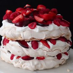 Berries And Cream Cloud Cake