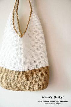 Crotchet Patterns, Crochet Handbags, Crochet Fashion, Veronica, Straw Bag, Purses And Bags, Macrame, Knitting, My Style