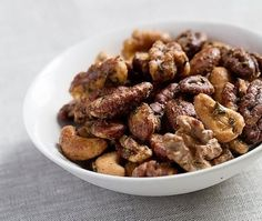 These insanely tasty cocktail nuts – inspired by a recipe from entertaining guru Ina Garten, aka Barefoot Contessa – are the perfect little something for guests to munch on while you finish cooking.