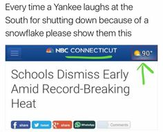 Schools in our city had a half day (EXCEPT MINE) as the temperature was over 100 degrees