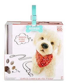 Georgie - Interactive Plush Electronic Puppy, responds to your voice - Toys 4 My Kids