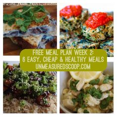 free meal plan week 12 6 easy cheap healthy meals grocery list