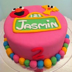 Sesame Street Cake Sesame Street Cake, Birthday Cake, Elmo, Desserts, Food, Tailgate Desserts, Birthday Cakes, Deserts, Eten