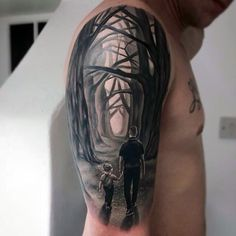 Incredible Woods Male Father And Son Tattoos Ideas