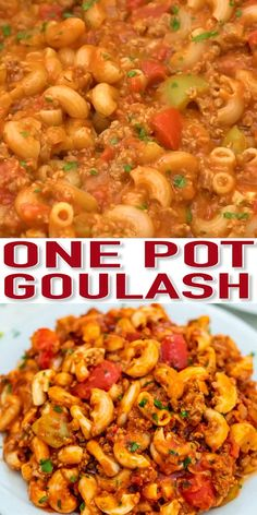 Goulash is a traditional Hungarian recipe that has an American version that is equally hearty and delicious! It is the perfect comfort food for the cold season! food videos One Pot Goulash Recipe - Sweet and Savory Meals Cooker Recipes, Crockpot Recipes, Soup Recipes, Chicken Recipes, Oven Recipes, Easy Recipes, Recipes With Rotel, Summer Crock Pot Recipes, Best Goulash Recipes