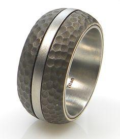 Ring Twist Titan/Bronze brüniert Mittelteil drehbar