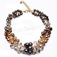 Crystal Zinc Alloy Necklace, with Crystal, with 3.5lnch extender chain, plated, faceted, 40mm, Length:Approx 17.3 Inch, Sold By Strand