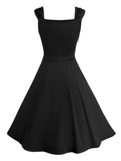 Black Sweetheart Ruched Skater Dress   Choies