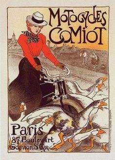 Théophile Alexandre Steinlen - Motocycles Comiot.  (via: turnofthecentury:janitoroflunacy)