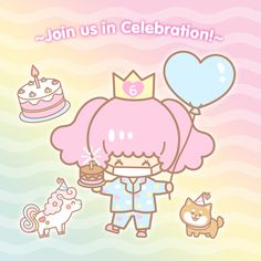 ✨ Join us in celebrating our kawaii birthday this May! 🎂 Our super cute mascot Aiko is all dolled up and ready for her upcoming home party! Japanese Subscription Box, Kawaii Subscription Box, Cute Things From Japan, Cute Squishies, Cute Stationery, Sanrio Characters, Cute Japanese, Little Twin Stars, Pastel Goth