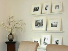 great way to hang pictures on wall