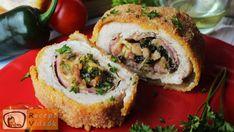 Recept za piletinu u rolu, Recept za piletinu u roli - Video o receptu Feta, Rolled Chicken Recipes, Chicken Ham, Sliced Ham, Most Popular Recipes, Ham And Cheese, Rolls Recipe, Minion, Bagel