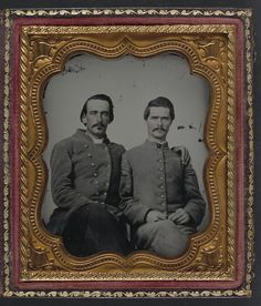 (c. 1861-1865) Two soldiers in Confederate uniforms