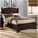 Hamilton/Franklin Queen Panel Storage Bed by Vaughan Bassett - L Fish - Platform or Low Profile Bed Indianapolis, Greenwood, Greenfield, Fishers, Noblesville, Carmel, Avon, Plainfield, IN