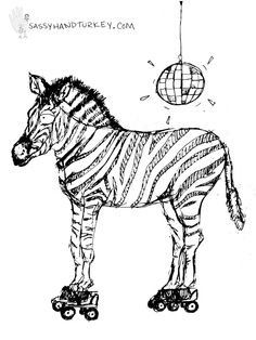 Roller Disco Zebra    Because I'm training to become a ref and keep being told I skate more disco than derby.