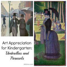 Art Appreciation for Kindergarten: Umbrellas and Parasols • Artchoo.com