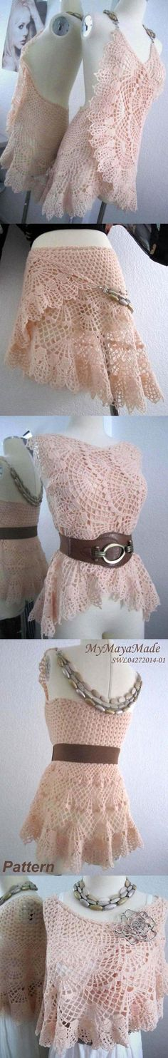Crochet Pattern - Lithe and Pierced Crochet Dress, Shawl or Skirt