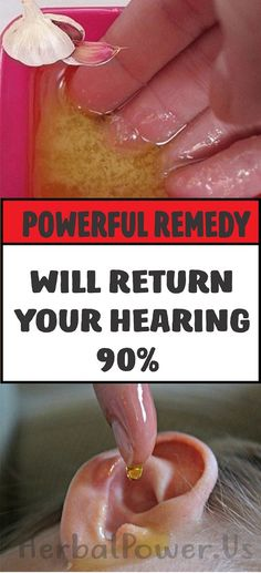 Powerful Remedy Will Return Your Hearing !!