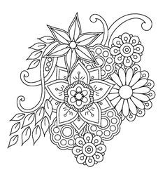 Coloriage Mandala Roses Awesome Pingl Par Nicole Theault Sur - Coloring Page Ideas Free Adult Coloring Pages, Flower Coloring Pages, Mandala Coloring Pages, Coloring Book Pages, Printable Coloring Pages, Coloring Sheets, Colouring, Zentangle Patterns, Embroidery Patterns