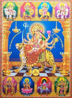 Forms of Durga Durga Ji, Durga Goddess, Ganesha Art, Krishna Art, Shiva, Navratri Pictures, Romantic Couple Images, Durga Images, Hindu Culture
