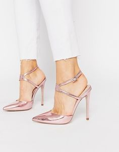 ASOS | ASOS PAINT THE TOWN RED Pointed High Heels at ASOS