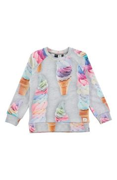 Free shipping and returns on Molo Marina Ice Cream Sweatshirt at Nordstrom.com. Vibrant ice cream cones piled high pattern a super-sweet sweatshirt cut from soft cotton.