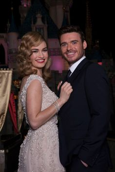 Lily James and Richard Madden at the Cinderella Screening at Disneyland on March 4th, 2015.