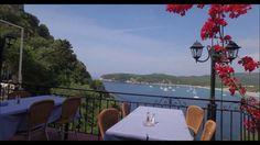 Flisvos Parga Beach Bars, Aerial View, Greece, Castle, Restaurant, Patio, Outdoor Decor, Home Decor, Greece Country